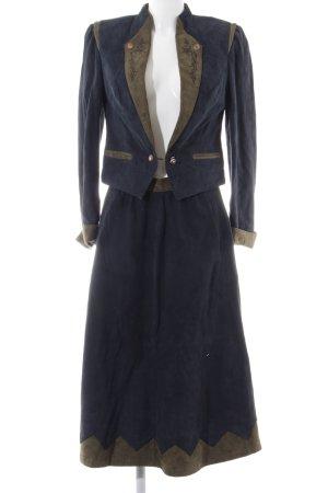 Alphorn Kostüm blau Vintage-Look