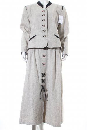 Alphorn Ladies' Suit light grey-black Embroidered ornaments