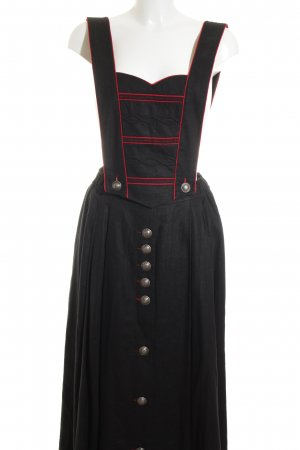 Alphorn Traditional Skirt black-red country style