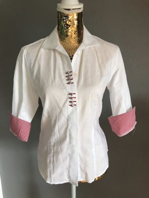 Alpin de luxe Shirt Blouse white-red