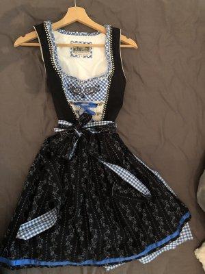 Alpin de luxe Dirndl black-blue