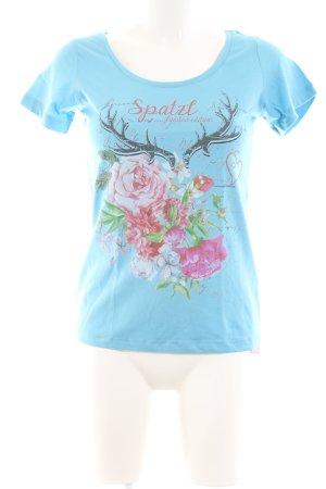 Alpin de luxe T-shirt motif de fleur style décontracté