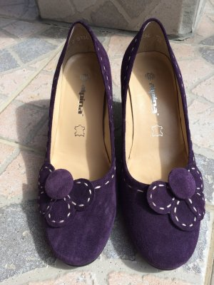 Alpina Pumps dark violet-cream
