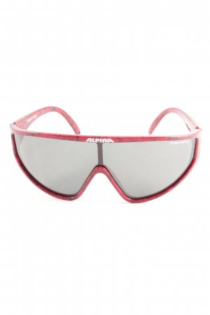 Alpina Oval Sunglasses black-red color gradient athletic style