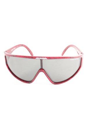 Alpina Gafas de sol ovaladas negro-rojo degradado de color estilo deportivo