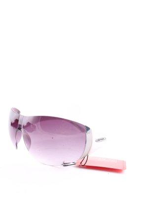 Alpina ovale Sonnenbrille schwarz-weiß Casual-Look