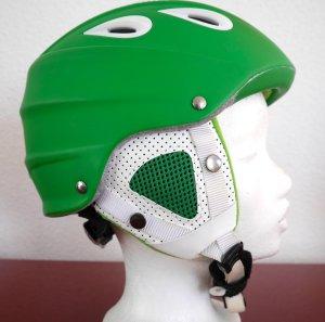 Alpina Cappellino verde-bianco Materiale sintetico