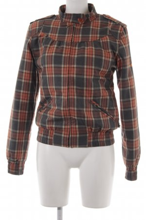 Alprausch Blouson dark orange-dark grey check pattern college style