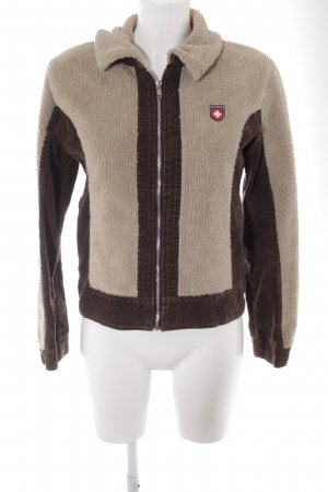 Alprausch Fleece Jackets dark brown-sand brown street-fashion look