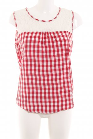 Alprausch Shirt Blouse red-white check pattern casual look