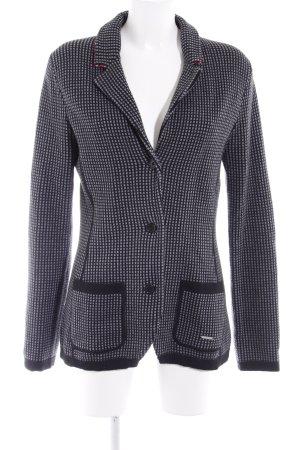 Alprausch Blazer in jersey nero-grigio chiaro motivo a quadri stile classico