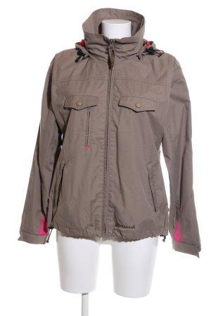 Alprausch Giacca con cappuccio marrone-rosa stile casual