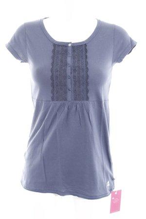 Alprausch T-shirt staalblauw simpele stijl