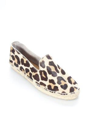 Alsen Ibiza Espadrilles-Sandalen beige-schwarz Animalmuster extravaganter Stil