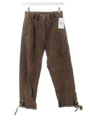 Alt Salzburg Pantalon bavarois marron clair-brun foncé style extravagant