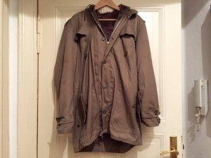 Alte Oversize Militär-Jacke/Mantel, Gr. 54