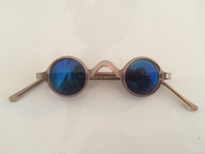Sunglasses steel blue synthetic material