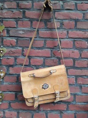 Shoulder Bag beige-sand brown leather