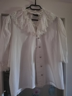 Ruche blouse wit