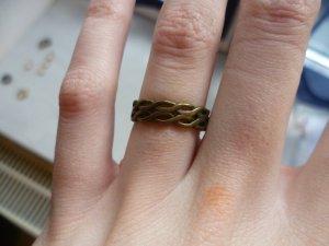 Altgoldener Ring im Vintage-Look, Basic, Boho, Hipster
