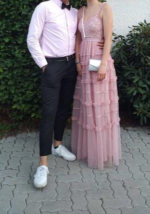 Altrosa Abiballkleid / Festkleid / Hochzeitskleid