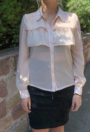 Altrosa-Bluse mit Volants