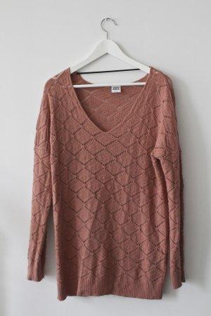 Altrosa Grobstrick-Pullover von Vero Moda