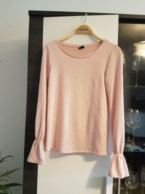Altrosa Shirt mit Trompetenärmeln