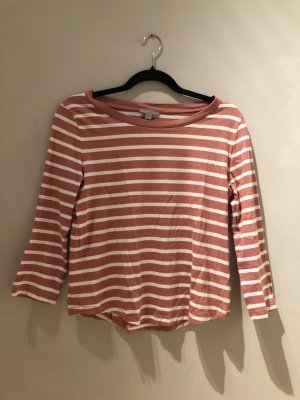 COS Gestreept shirt wolwit-roségoud