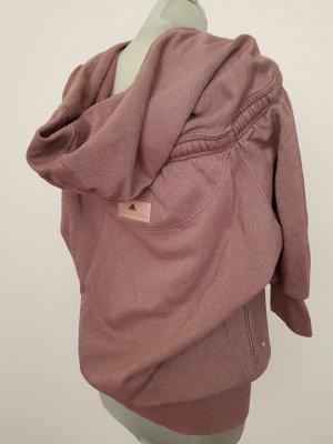 Altrosa-Zimtfarbener Hoodie mit Silberglitzer