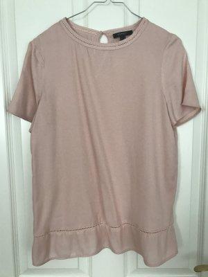 Altrosafarbenes T-Shirt