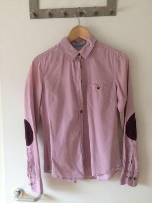 Altrosane Bluse mit Ellenbogenpatches
