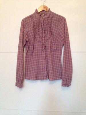 Altrosane Bluse mit Rüschen
