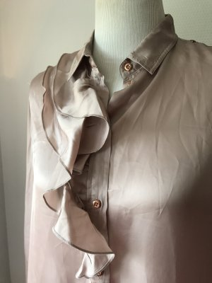 Diesel Blusa brillante color oro rosa-rosa antico