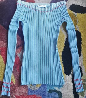 Altuzarra Sweater cornflower blue-red viscose
