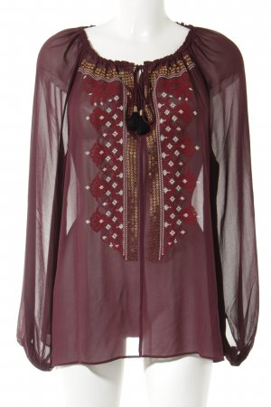 Altuzarra Tunic Blouse bordeaux casual look