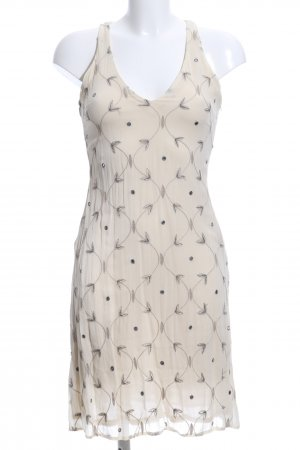 Alysi Chiffon Dress natural white-light grey allover print casual look