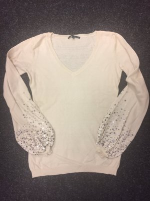 Alysi V-Neck Sweater natural white