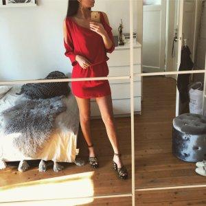 Amanda Uprichard Cocktailkleid Off Shoulder Mini Kleid Silk