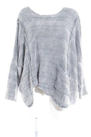 Amandine Pullover all'uncinetto grigio stile casual