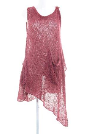 Amandine Top de ganchillo rojo frambuesa estilo hippie