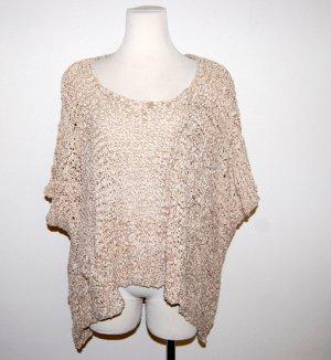 Maglione oversize color cammello Tessuto misto