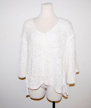 Maglione oversize bianco Tessuto misto