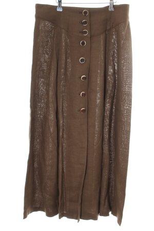 Amann Linen Skirt bronze-colored casual look