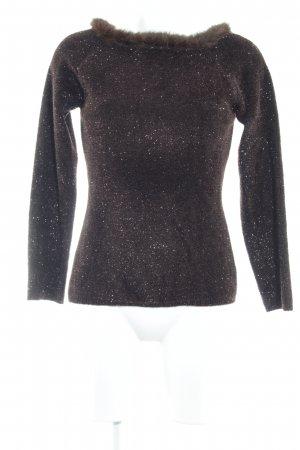 Amann Crewneck Sweater black-blackberry-red extravagant style
