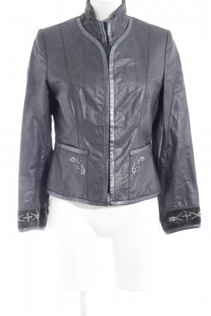 Amann Traditional Jacket silver-colored-slate-gray wet-look