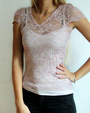 Amaranto spitzenartiges Shirt