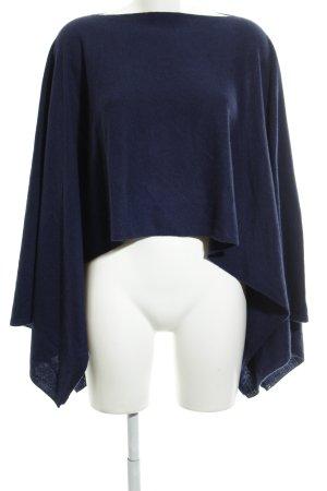 Amaryllis Poncho blu scuro stile casual