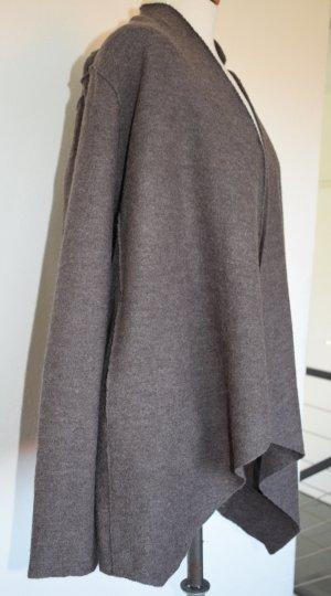 Amaryllis Chaqueta de lana marrón grisáceo Lana