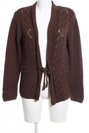 Ambee Knitted Cardigan brown casual look